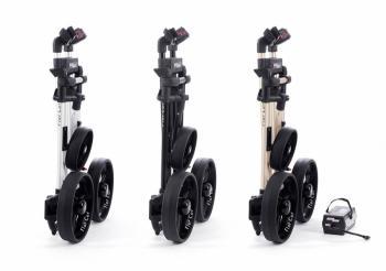 Verschillende Flat Cat elektrische golftrolleys ingeklapt