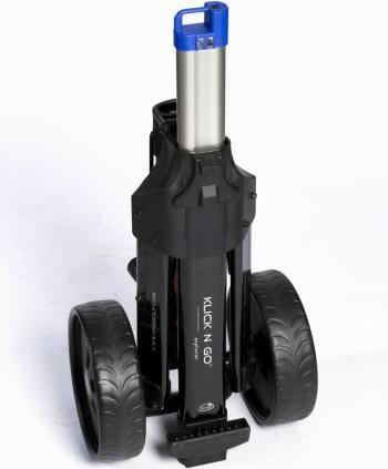 Klick n go de kleinst opvouwbare golftrolley met lithiumaccu en lader