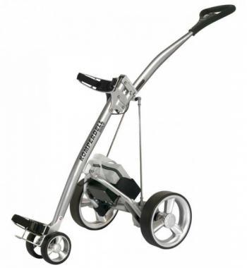 golftrolley van komperdell zilver- zwarte