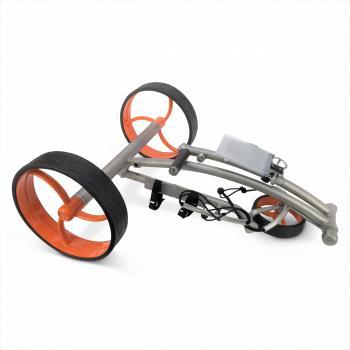 elektrische golftrolley zilver - oranje