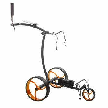 golftrolley zwart - oranje